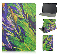 10.1 Inch Leaf Pattern PU Leather Stand Case for Asus MeMO Pad 10-ME103K