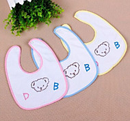 New Baby Textile Cotton Cleaning Bib (Random Colors)