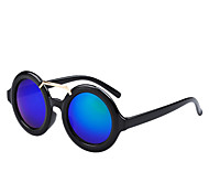 Sunglasses Men / Women / Unisex's Retro/Vintage / Fashion Round Black / Fuchsia / Leopard Sunglasses Full-Rim