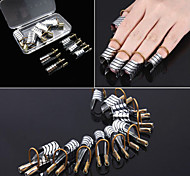 1 Box Reusable Silver Nail Art Forms Nail Tips Extension Tools For Acrylic & UV Gel Tips