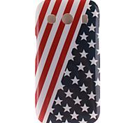 Coco Fun® EE.UU. modelo de la bandera del tpu suave imd cubierta trasera del caso para Samsung Galaxy Ace 4 g357fz