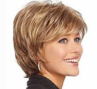pelo corto Pelucas mujeres blancas negras sintéticos europeos pelucas pelucas cortas