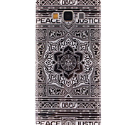 Flower of Justice Pattern Ultra Thin TPU Soft Back Cover Case for Samsung Galaxy A7