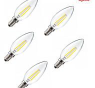 5pcs HRY® E14 2W 200LM Light LED Filament Lamp (85-265V)