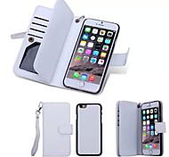 Special Design High quality Genuine Leather Wallet Case Full Body Cases with Stand for iPhone 6