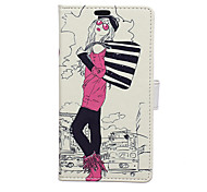 Fashion Girl Pattern Full Body Case for Sony Xperia C4