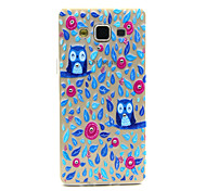 For Samsung Galaxy Case Transparent / Pattern Case Back Cover Case Owl TPU Samsung A5