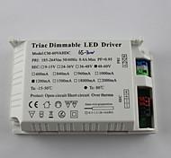 Luz ajustável 65-70w ac185-265v entrada 1200mA / saída dc48-60v levou driver (externo)