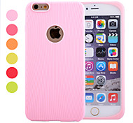 Fruit Color Stripes Half Edging Ultra-Thin Soft Silicone Material Protective Phone Case for iPhone 6(Assorted Colors)