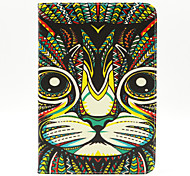 rfh Katze Muster Protective PU Ledertasche mit Ständer und Kartensteckplätze für ipad mini 1/2/3