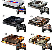 Fashional Designer Skin PS4 Playstation Sticker 4 Console Controller Decals & Two PS4 Controller Skins