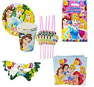 40pcs bebê da princesa decoração decorações da festa de aniversário crianças evnent fontes do partido do partido 6 pessoas usam