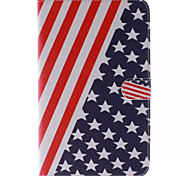 usa nationale vlag foto pu leer full body TPU geval is met kaarthouder voor samsung galaxy tab t110
