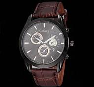Men's Fashion Dress Design PU Leather Strap Quartz Wrist Watch