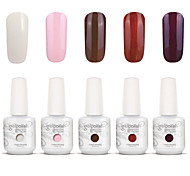 Gelpolish Nail Art Soak Off UV Nail Gel Polish Color Gel Manicure Kit 5 Colors Set S134