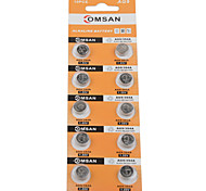 COMSAN 394 AG9 L936 LR45 High Capacity Button  Batteries (10PCS)