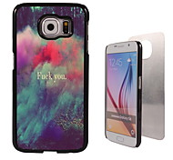 fuck u aluminium koffer voor Samsung Galaxy s6 ontwerpen