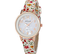 Women's Shell Design Dial Flower PU Band Quartz Watch Cool Watches Unique Watches