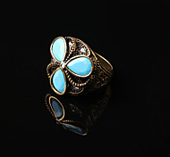 Alloy Fashion Vintage Flower Statement Rings Party/Daily 1pc