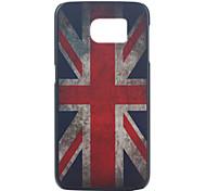 patrón de la bandera caja del teléfono material de la PC británico para la galaxia s6