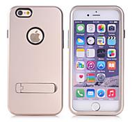bonne qualité de conception spéciale pc silicone cas incassable couvre pour l'iphone 6 plus (couleurs assorties)