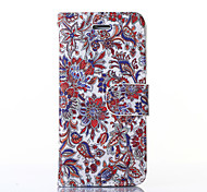 Classical Flowers Pattern PU Leather Full Body Case with Stand for iPhone6
