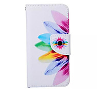 Sunflower  Pattern PU Leather Phone Case For iPhone 6