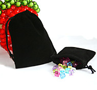 Beadia 50Pcs  10x12cm Black Color Velvet Pouch Wedding Gift Bag Color Drawstring Jewelry Packaging