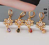 Women's Fashion 18K Gold Plated  Big Fashion Water Earring