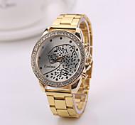 montres femme argent nouveau de montre en or rose de couleur or montres de marque pour les femmes Genève montres nouvel acier d'arrivée