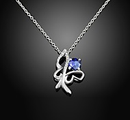 Top Selling 925 Silver-plated Butterfly Shaped Fashion Zircon Necklace