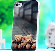 patrón de dibujos animados lindo del tpu transparente caso de la cubierta suave para el caso 5s apple iphone