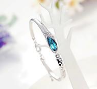 Fashion glass shoes crystal bracelet