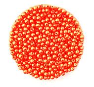 beadia 58g (ca. 2000pcs) 4mm lang abs Perlen orange Farbe Kunststoff-Perlen
