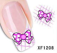 5Pcs Beautiful Bowknot Pattern Nail Stickers