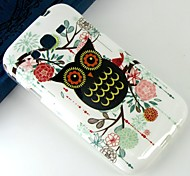 Black cartoon owl Pattern Design Pattern Protective TPU Soft Case for Samsung Galaxy Grand Neo I9060