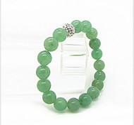 cuentas de jade mujer Dongling 6mm pulsera