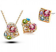 Z&X® Alloy Fashion Colorful Irregular Rhinestone Jewelry Set Party/Daily 1set(Including Necklaces/Earrings)