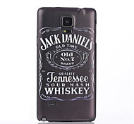 Jack Pattern  Printing Black Frosted PC Material Phone Case for Samsung Galaxy Note 4