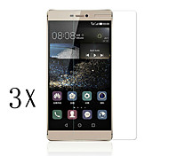 [3-Pack]Professional High Transparency LCD Crystal Clear Screen Protector with Cleaning Cloth for Huawei P8