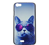 Glasses Cat Pattern PC Phone Case For Wiko LENNY