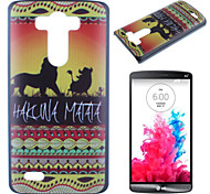Lion Pattern PC Phone Case for LG G3