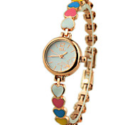Women's Slim Heart Shape  Band Quartz Wrist Watch