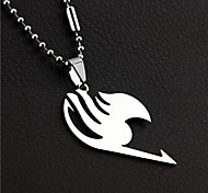 Fashion Fairy Tail Titanium-Steel Necklace(Silver)(1Pc)