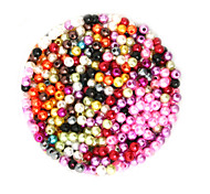 beadia 58g (ca. 2000pcs) 4mm lang abs Perlen gemischte Farben Kunststoff-Perlen