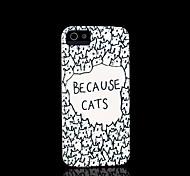 motif de chat couverture rigide pour iPhone 5 cas pour iphone 5 s