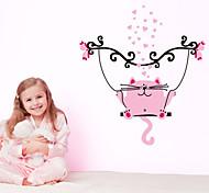 Adesivo de Parede - Rosa - de Plástico - Desenhos Animados