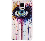 eye pattern materiale TPU soft phone per la galassia nota 4