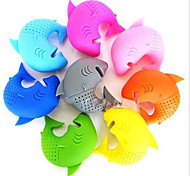 Cute Silicone Shark Infuser Loose Tea Leaf Strainer Herbal Spice Filter Diffuser(Random Color)