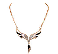 Europe Fashion Inlay Diamond  Wings Necklaces